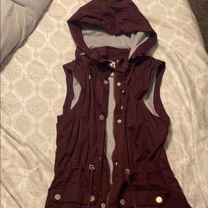 Maroon lightweight vest